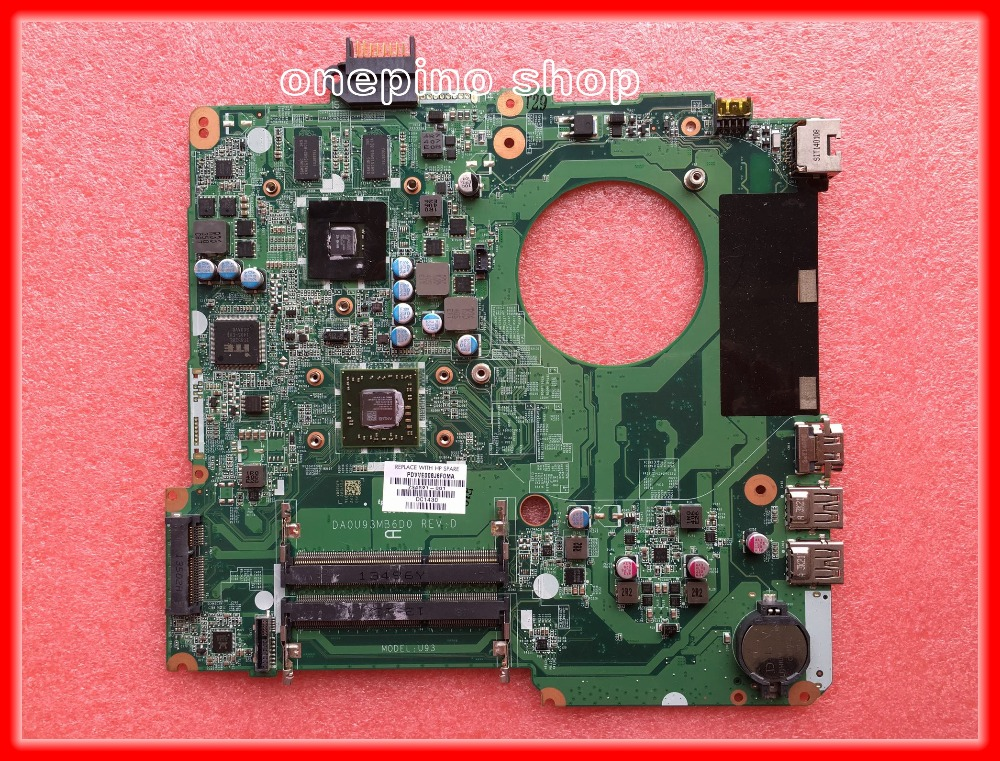734821-501 734821-001 For HP 15-N 15z-N Laptop Motherboard DA0U93MB6D0 mainboard A6 Tested working 744009 501 744009 001 for hp probook 640 g1 650 g1 motherboard socket 947 hm87 ddr3l tested working