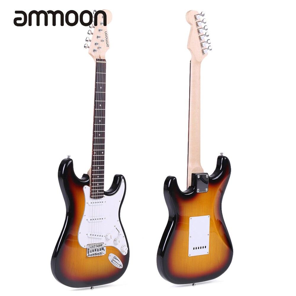 ammoon full size electric guitar set with jt 306 digital clip on guitar tuner amplifier gig bag. Black Bedroom Furniture Sets. Home Design Ideas
