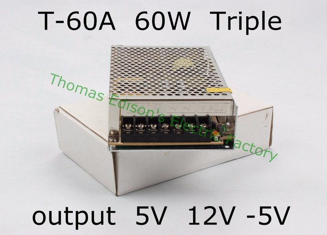 US $8 9 9% OFF|Triple output power supply 60w 5V 5A, 12V 2 5A, 5V 0 5A  power suply T 60A ac dc converter good quality-in Switching Power Supply  from
