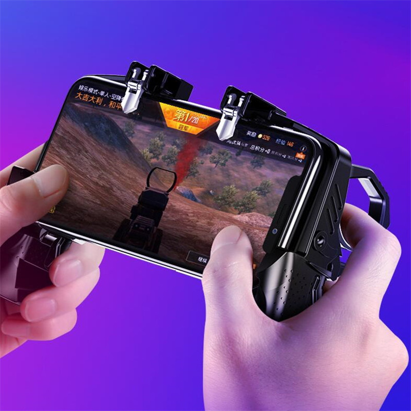 New Arrival K21 for PUBG Mobile Gamepad Joystick L1 R1 Trigger Game Shooter Controller for iPhone Android controle para celular in Gamepads from Consumer Electronics