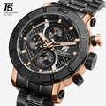 T5 Top marka luksusowe różowe złoto kwarcowy z chronografem mężczyźni mężczyzna Relogio Masculino wodoodporne sportowe zegarki na rękę zegarek zegarki człowiek