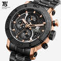 T5 marca superior de lujo de oro rosa de cuarzo cronógrafo hombres reloj Masculino reloj de pulsera deportivo resistente al agua relojes de hombre