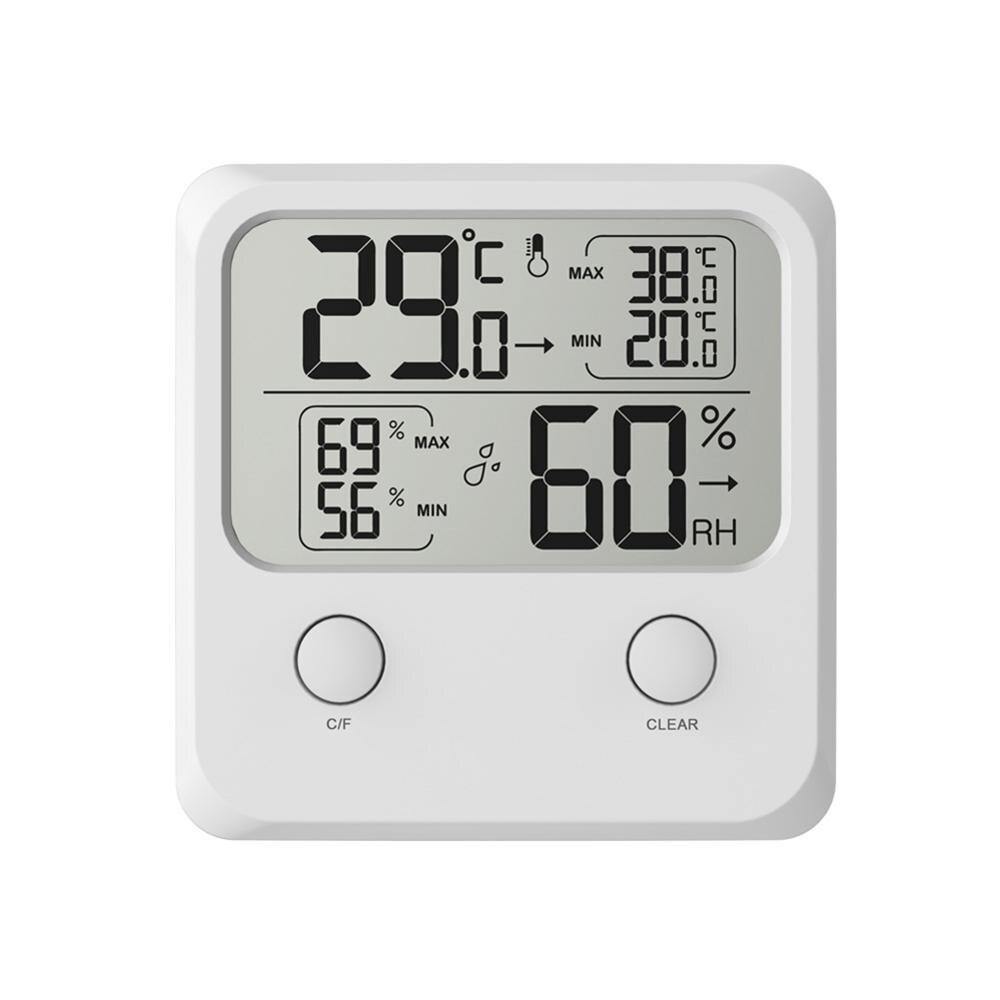 Многократное Размещение большой шрифт дисплей Крытый термометр и гигрометр цифровой дисплей для вина погреб Температура гигрометр