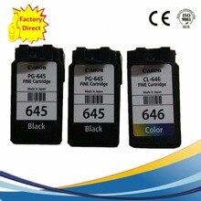 3 Pack PG645XL PG 645XL PG-645XL CL-646XL CL646XL CL 646XL Ink Cartridges For Canon Pixma MG 2460 2560 2960 2965 Inkjet Printer