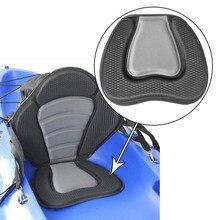 Deluxe EVA Padded Kayak Boat Seat Rowing Boat Soft and Antiskid Padded Base High Backrest Adjustable Kayak Cushion with Backrest