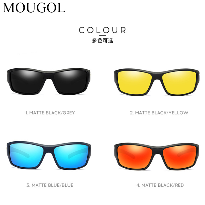 MOUGOL Vintage Sunglasses Men amp 039 s Polarized Driving Sport Sun Glasses Protection Fashion For Men Women Color Mirror UV400 in Men 39 s Sunglasses from Apparel Accessories