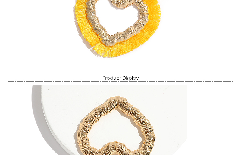 AYAYOO Big Hoop Earrings Taseel Women Heart Gold Color Fringe Earrings Red Party Boho Earings Fashion Jewelry Brincos 2018       (3)