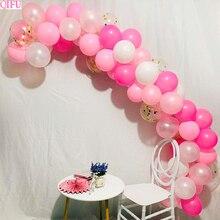 QIFU 107pcs Wedding Balloons Air Confetti Baby Baptism Christening Rose Gold Baloon Arch Ballons Accessories