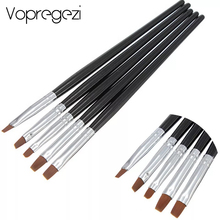 Vopregezi 5pcs/set Nail Art Brush Decorations Set Tools Professional Painting Pen Acrylic Manicure Brushes Accessoires