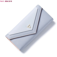 we more Women's Wallet PU High Quality Zipper & Hasp Polyester Inside Material Medium and Long Style Women's Wallet