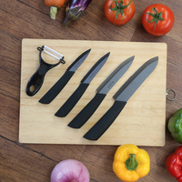 Kitchen Knife Set Zirconia Ceramic Knife 3 4 5 6 Inch Peeler Covers Black Blade Paring