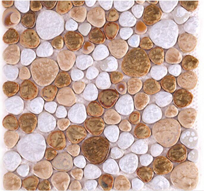 Porcelain Pebbles Glazed Ceramic Mosaic Tile for Garden floor,Kitchen backsplash,Bathroom,Fireplace background home decor,LSYB18 best promotion 10pcs set diamond holesaw 3 50mm drill bit set tile ceramic porcelain marble glass top quality
