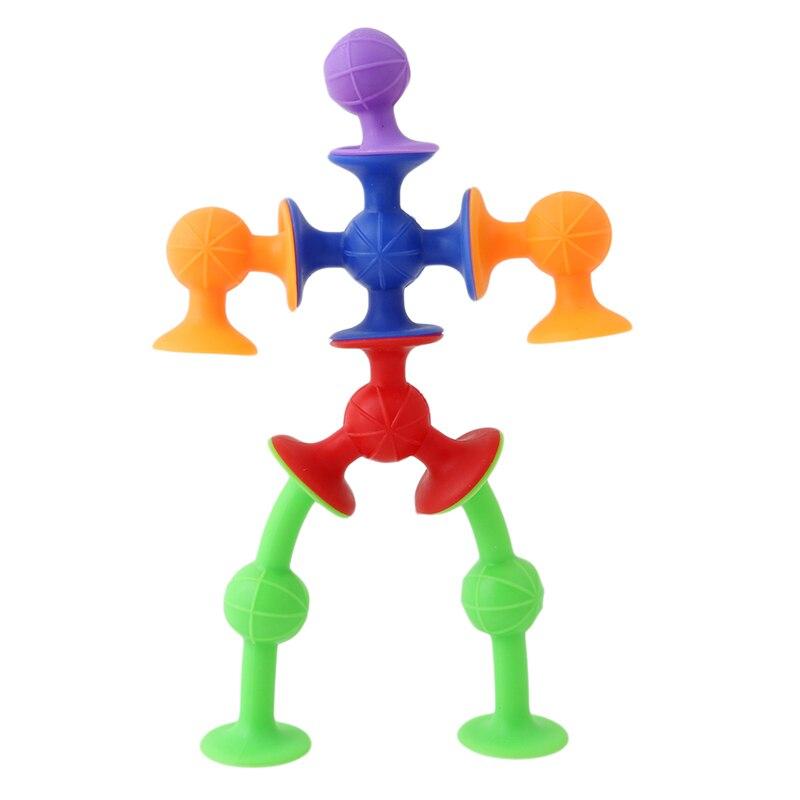 Blocs jouet bricolage Silicone blocs de Construction assemblé ventouse drôle Construction jouets enfants jouets éducatifs