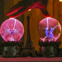 Eiffel Tower Creative Touch Magic Ball Ion Electrostatic Ball Glow Ball Classic Furnishing Figurines Great Miniatures Tower