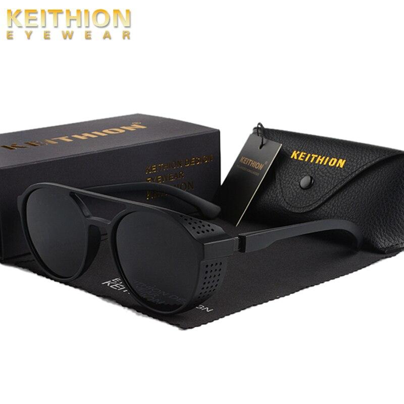 KEITHION Retro Round Polarized Sunglasses Steampunk Men Women Brand Designer Glasses Oculos De Sol Shades UV Protection in Men 39 s Sunglasses from Apparel Accessories