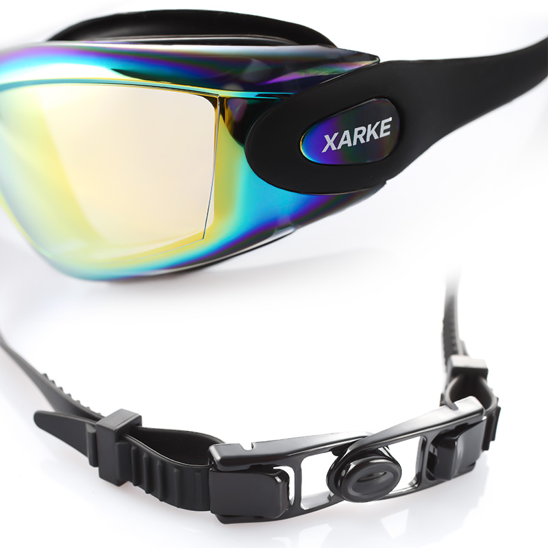 xarke optical diopter anti fog silicone prescription swimming goggles for pool myopia
