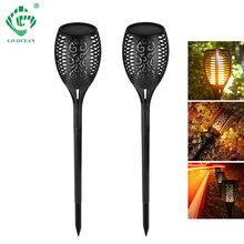 hot deal buy led garden lamps solar dancing flame outdoor waterproof lights flicker ip65 lawn decor lamp landscape path backyard lighting
