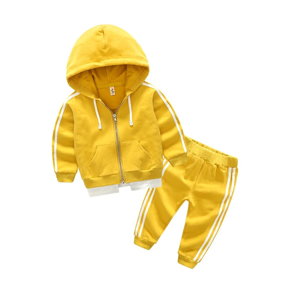 2017 autumn boy girl clothes sets nice Pure cotton kids Hoodie+Haren pants Suit 2 piece toddler sports clothes Children clothes