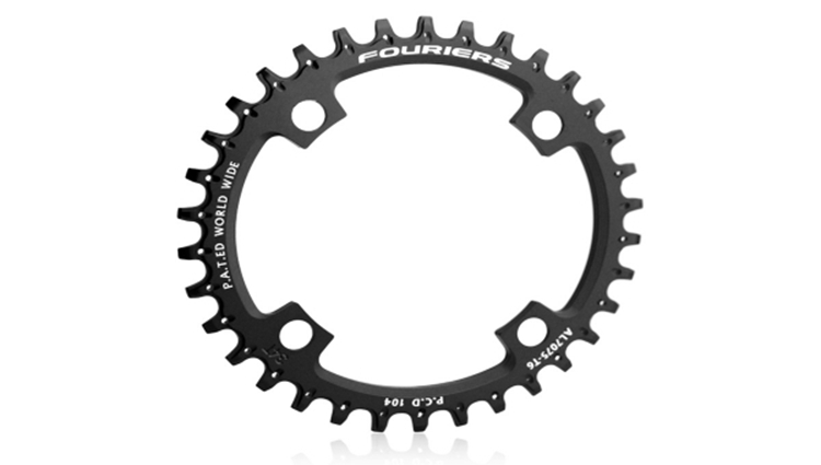 1pcs Black Fouriers Bicycle Bike Single Chain Ring P.C.D 104mm 34T 4mm Bicycle Chainrings Narrow-wide Teeth