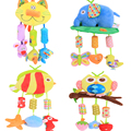 2016 New Infant Toys For Baby Crib & Stroller Plush Playing Toy Car Lathe Hanging Baby Rattles Mobile 0-12 Months