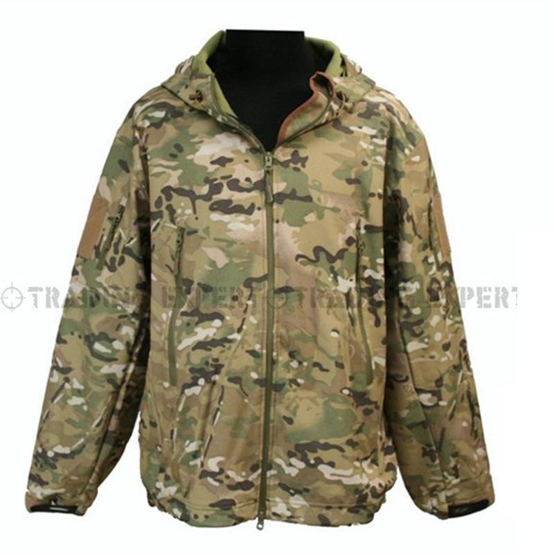 ACU Camouflage Windbreaker Men Outdoor Army Uniform Coat Hooded Training Jacket