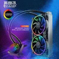 Pccooler GI AP240X водяного охлаждения Процессор Liquid кулер для AMD TR4 intel 2011 2066 Процессор радиатора 120 мм RGB 4pin Процессор вентилятор PC тихий