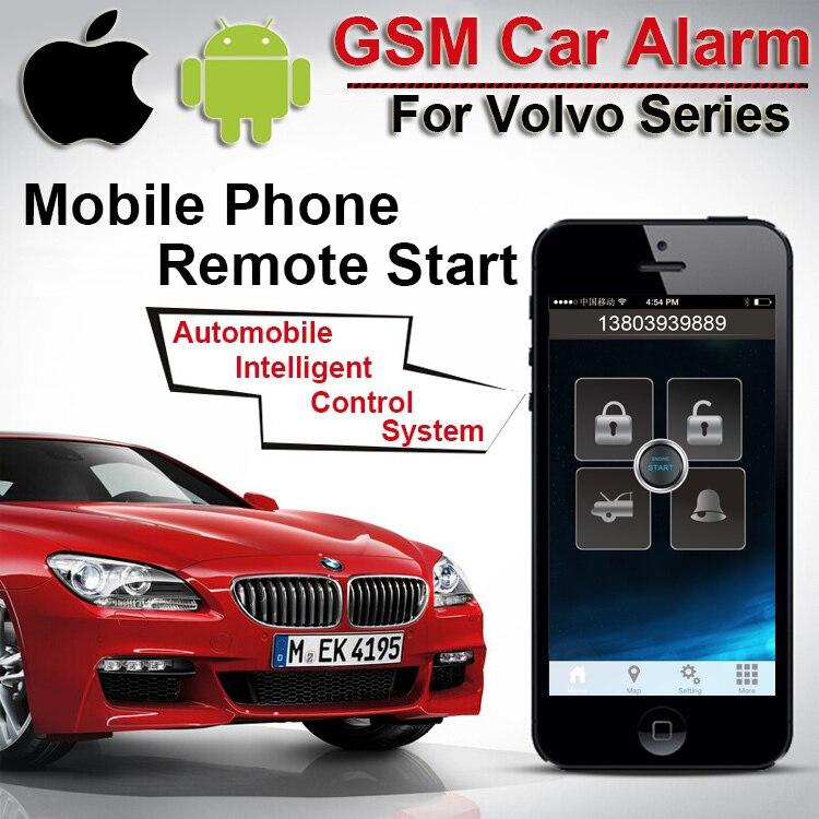 top quality app gps gsm car alarm for volvo two way car alarm speed fence open door alarm. Black Bedroom Furniture Sets. Home Design Ideas