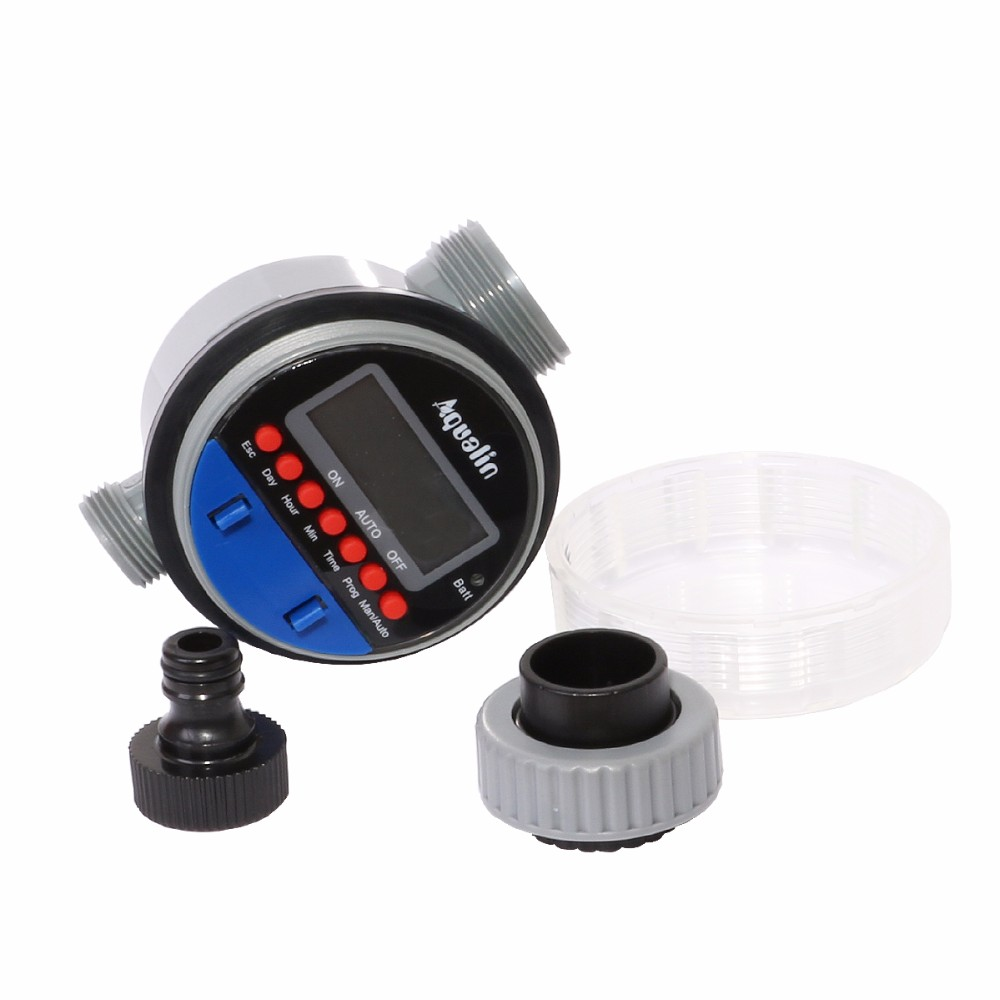 2pcs Electronic LCD Display Home Ball Valve Water Timer Garden Irrigation Watering Timer Controller System