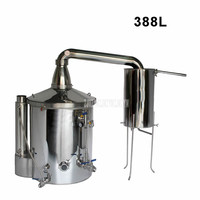 388L Commercial 304 Stainless Steel Wine Brewing Machine Liquor Alcohol Distillation Brewer Alcohol Distiller Making Equipment