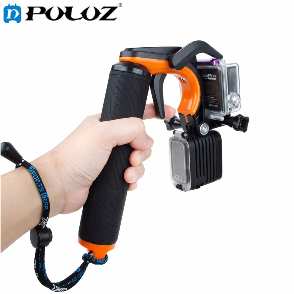 For Go Pro Accessories Shutter Trigger Floating Monopod Hand Bobber Grip Buoyancy Stick for GoPro HERO5 HERO4 HERO 5 4 3+ camera