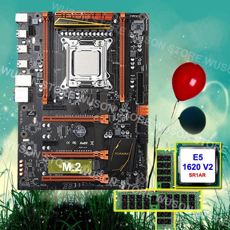 Degno di fiducia PC hardware fornitore HUANAN ZHI Deluxe X79 scheda madre processore Xeon E5 1620 V2 3.7GHz RAM 16G (2*8G) DDR3 1600 RECC