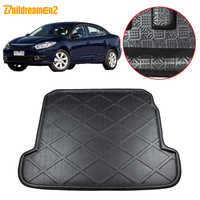 Buildreamen2 For Renault Fluence Car Styling Rear Trunk Boot Liner Cargo Mat Luggage Tray Floor Carpet Mud Protection Pad