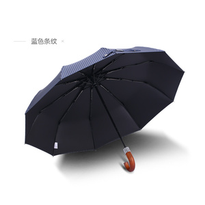 Image 5 - 2019 New Arrival  Brand Male Umbrella 10K Windproof Wooden Handle Large Men Umbrellas Rain Quality Classic Business Paraguas