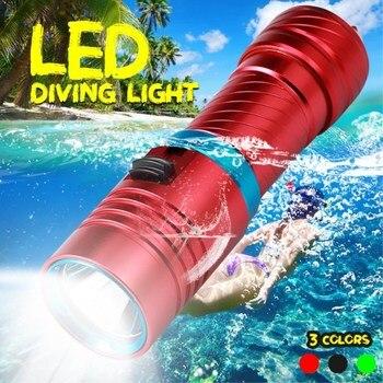 15000LM Scuba Tauchen Licht 100 Meter L2 Wasserdichte Unterwasser LED Taschenlampe Tauchen Camping Lanterna Taschenlampe Mit Stufenlose dimmen