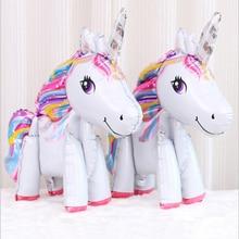 1 pieza bebé ducha unicornio fiesta suministros cumpleaños fiesta decoraciones adultos Feliz cumpleaños globo cumpleaños fiesta decoraciones niños