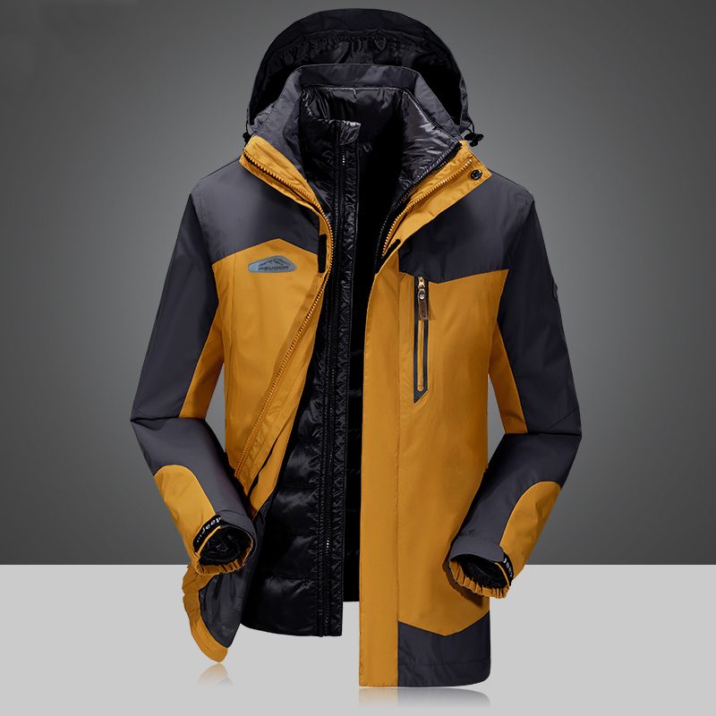 Здесь продается  Brand Winter jacket men Windbreaker duck down jacket men liner detachable waterproof windproof outwear down coat winter coat men  Одежда и аксессуары