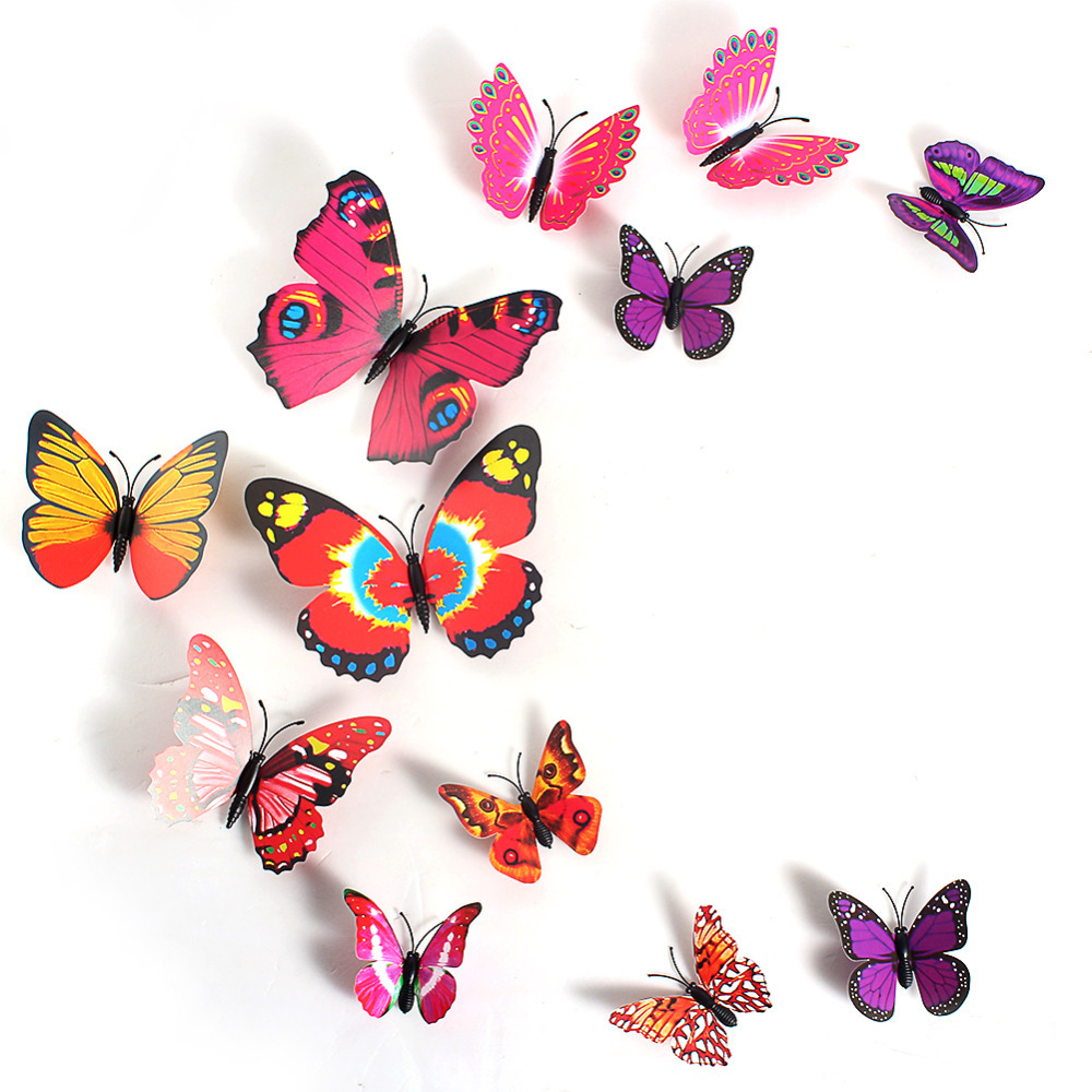 Aliexpress.com : Buy 3D Butterfly Sticker Art Creative Butterflie Design Decal  Wall Stickers Home Decor Room Wall Sticker Decorations From Reliable  Stickers ... Part 41