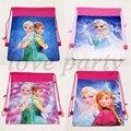 Bolsos de Lazo Decoración Fiesta de Cumpleaños de Baby Shower Elsa Anna Tela No Tejida Princesa Mochila Kids Favores Suministros 1pcs \ lot