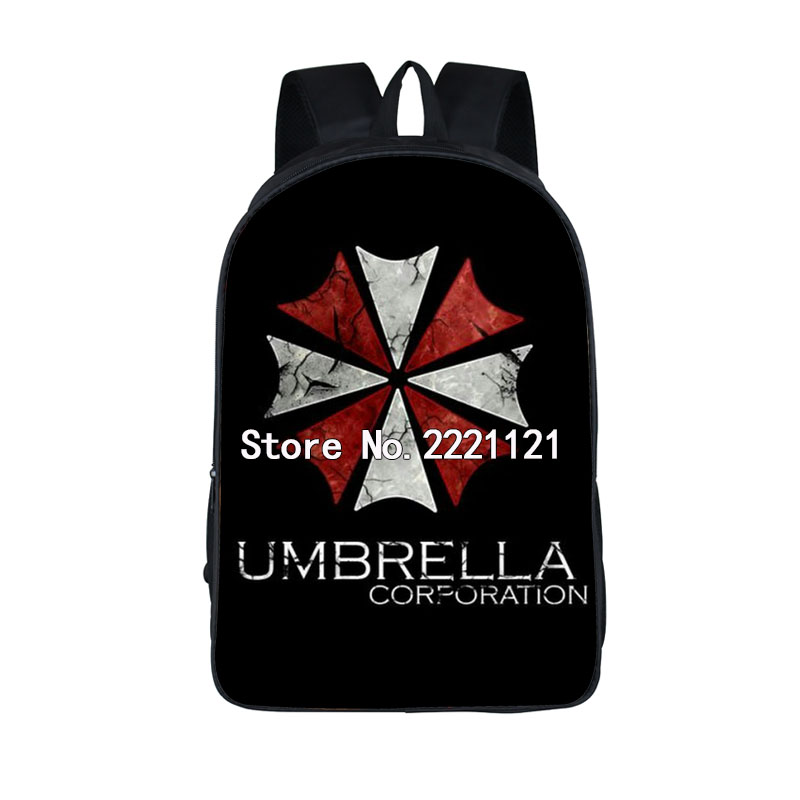 Resident Evil Biohazard UMBRELLA Backpack For Teenage Children School Bags Fashion Women Men Travel Backpacks Kids Book Bag anime noragami aragoto yato backpack for teenage girls boys cartoon yukine children school bags casul book bag travel backpacks