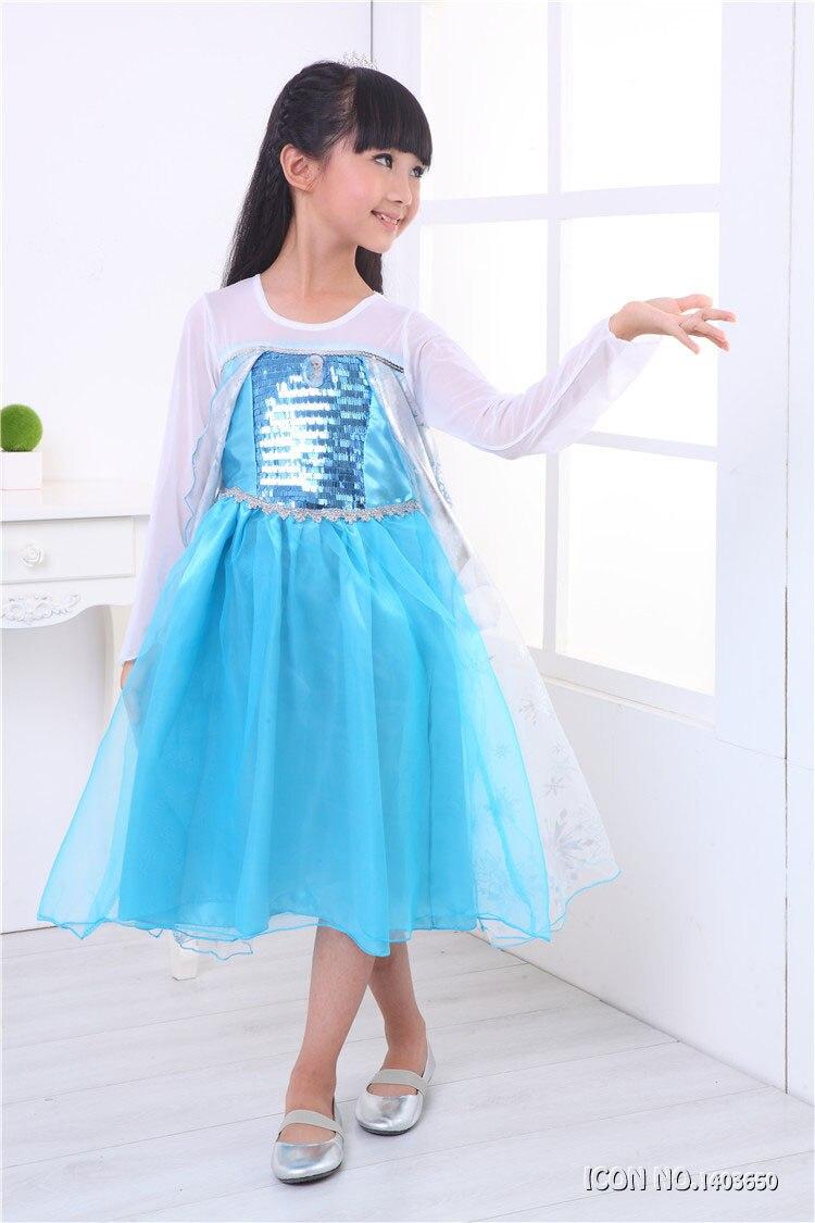 Fashion Children Dress Kids Party Dress Vestidos Cosplay Baby Elsa ...