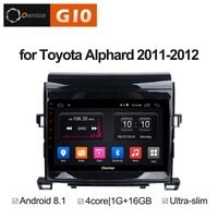 8 inch Android 8.1 Quad 4core 2GB RAM+16GB Car DVD Player For Toyota Alphard 2011 2012 GPS Navi Radio Stereo BT WiFi TPMS