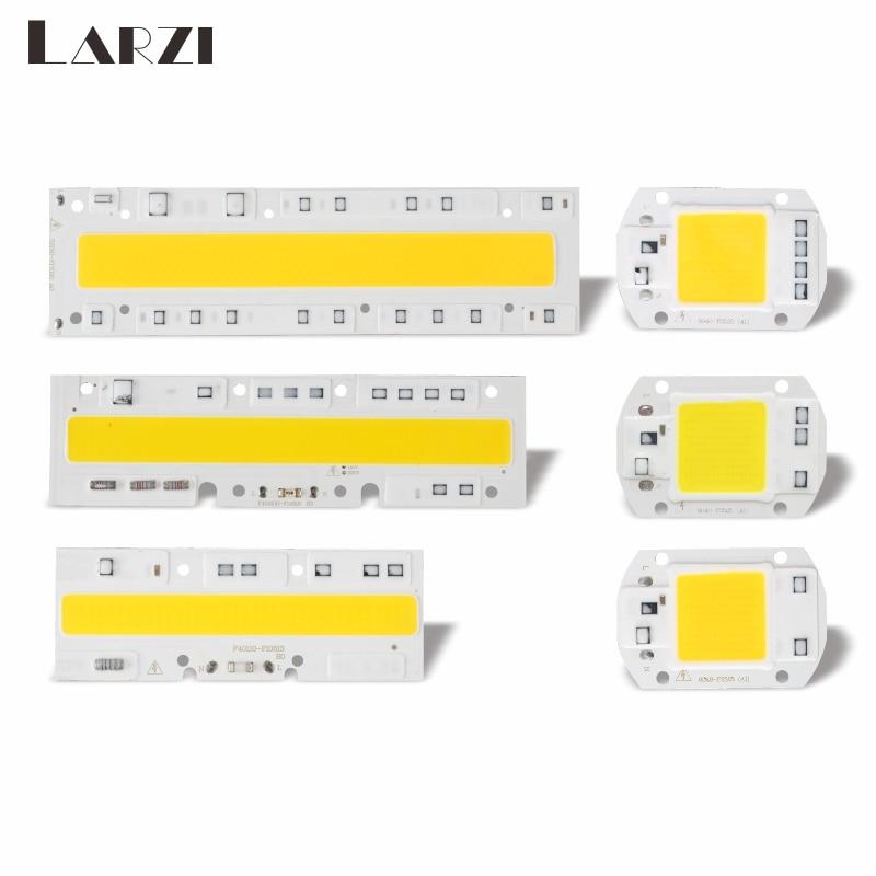 LARZI COB LED Lamp Chip 220V High Power 10W 20W 30W 50W 70W 100W 120W Input Smart IC No Driver LED Bulb Flood Light Spotlight