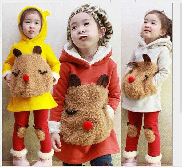 clothing sets kids clothes Children s clothes girls winter 2016 new children s cartoon panda fleece