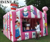 Customized oxford advertising inflatable booth tent temporary workstation for popcorn cotton candy ice cream booth sale