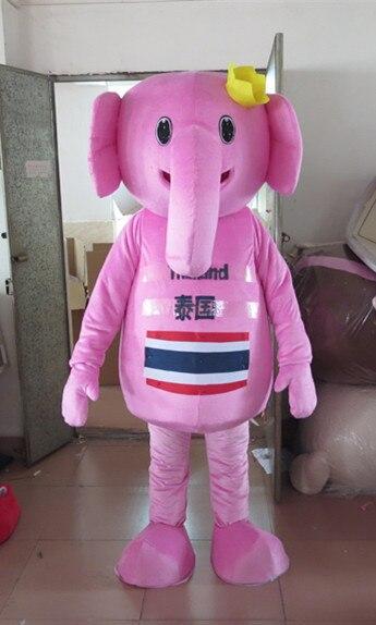 Haute qualité Rose Éléphant Costume de Mascotte de Personnage De Dessin Animé de Mascotte Mascota Tenue Costume No 962 Livraison Gratuite