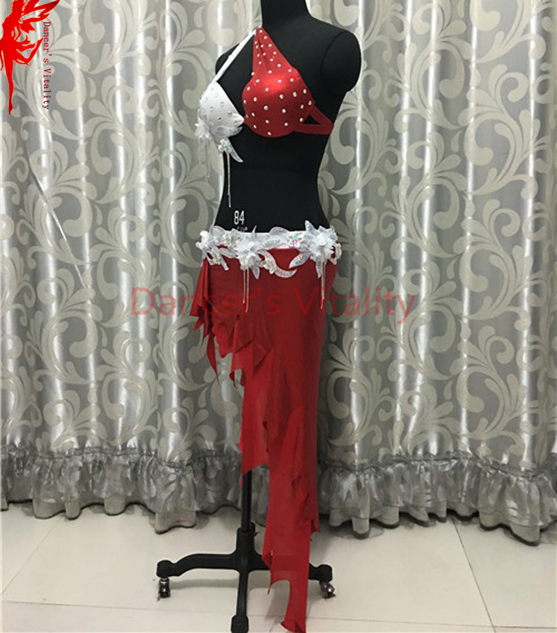 Women Performance belly dance clothes India stones bra top and short skirt  2pcs belly dance suit girls dance clothing B C cup -in Belly Dancing from  Novelty ... b307a5ad6611
