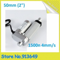 Electric Linear Actuator 12v DC Motor 50mm Stroke Linear Motion Controller 4mm/s 1500N Heavy Duty 1PC