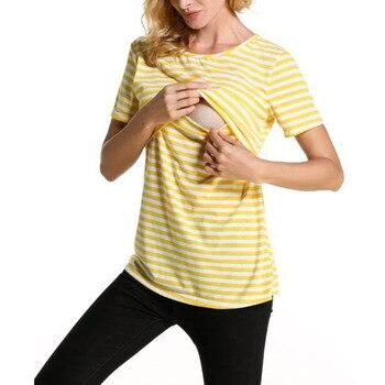 5a96c8b7f Verano enfermería Tops maternidad ropa rayas lactancia camisetas  alimentación embarazo para las mujeres embarazadas ropa