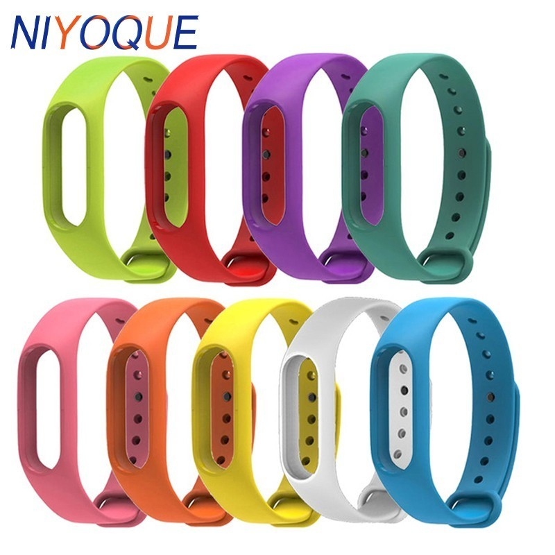 NIYOQUE Bracelet For Miband Band 2 Xiaomi MiBand 2 Bracelet Strap 2 Colorful Strap Wristband Intelligent Replacement Band