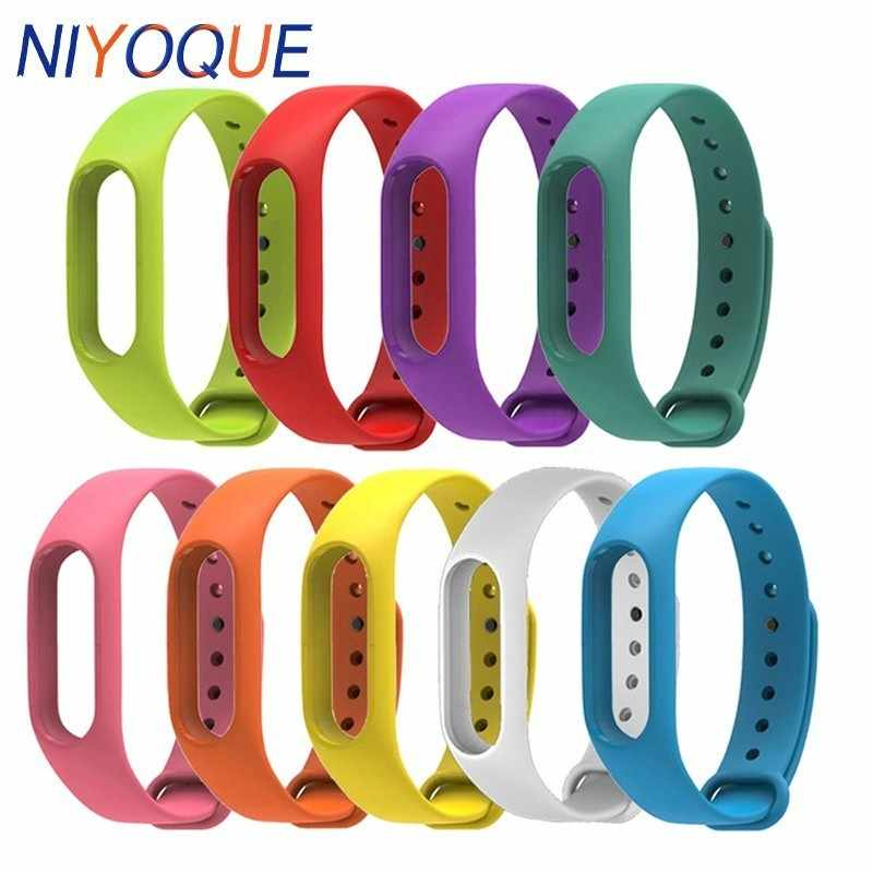 NIYOQUE Armband Voor Miband Band 2 Xiaomi MiBand 2 Armband Riem 2 Kleurrijke Strap Polsband Intelligente Vervanging Band